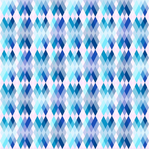 Spring Blooms Argyle Blue