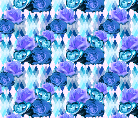 Spring Blooms Blue fabric by fentonslee on Spoonflower - custom fabric