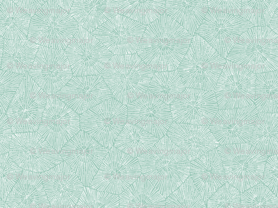 petoskey-stone pattern, white on mint