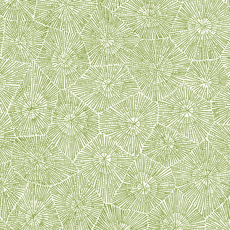 petoskey-stone pattern, moss green on white