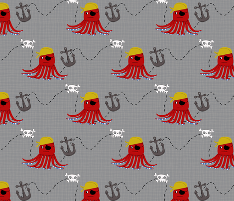 Pirate Octo fabric by shellie_denise on Spoonflower - custom fabric