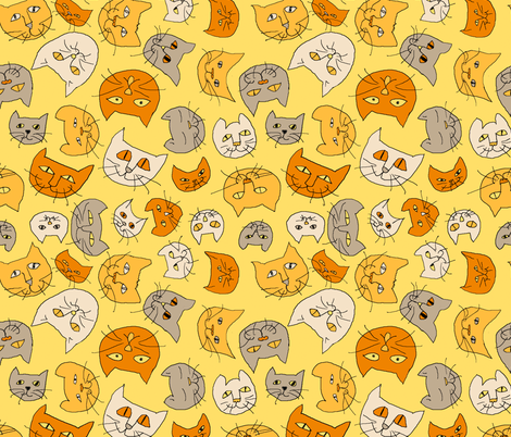cats fabric by mariglenda on Spoonflower - custom fabric
