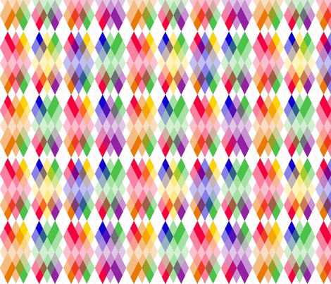 Rainbow  Kite Argyle fabric by fentonslee on Spoonflower - custom fabric