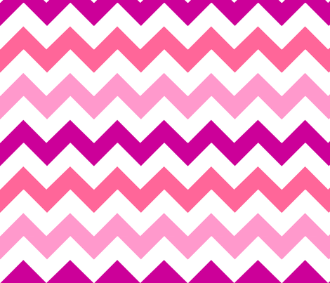 Pink Chevron fabric by stickelberry on Spoonflower - custom fabric