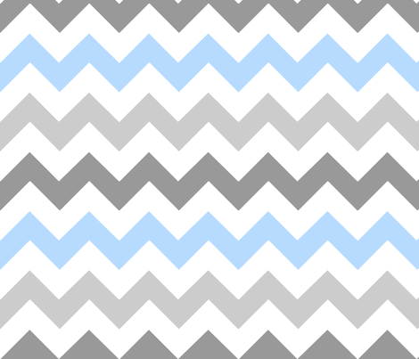 Gray Blue Chevron