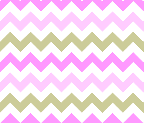 Pink & Tan Chevron fabric by stickelberry on Spoonflower - custom fabric