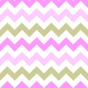 Pink & Tan Chevron