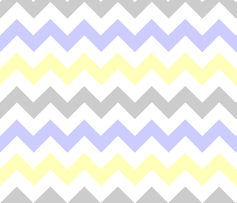 Yellow & Gray Chevron fabric by stickelberry on Spoonflower - custom fabric