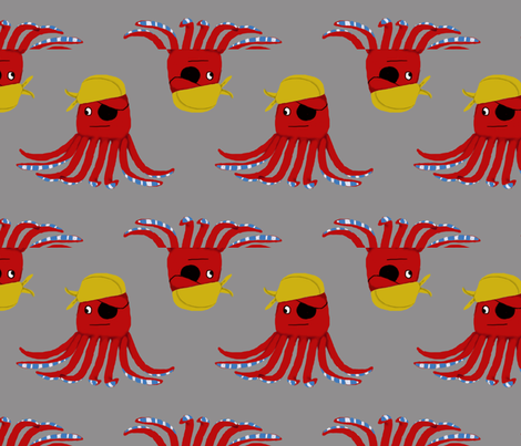Pirate Octo Gaint fabric by kenkayla on Spoonflower - custom fabric