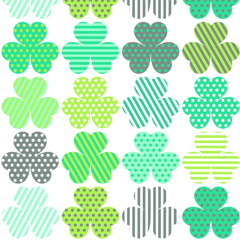 Shamrock Shuffle fabric by veritymaddox on Spoonflower - custom fabric