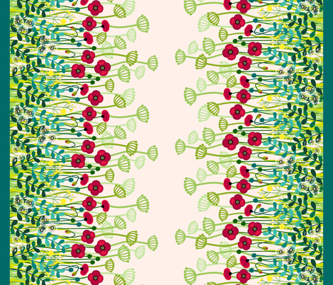 "Meadow border - double 42"" wide fabric by coggon_(roz_robinson) on Spoonflower - custom fabric"