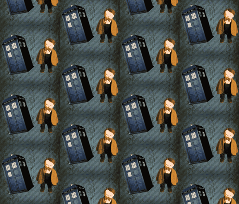 Dr. Who Jan Shackelford baby fabric by janshackelford on Spoonflower - custom fabric