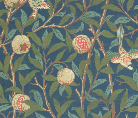 Bird and Pomegranate fabric by the_bridgeman_art_library on Spoonflower - custom fabric