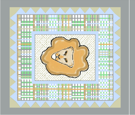 Lion Quilt fabric by paragonstudios on Spoonflower - custom fabric