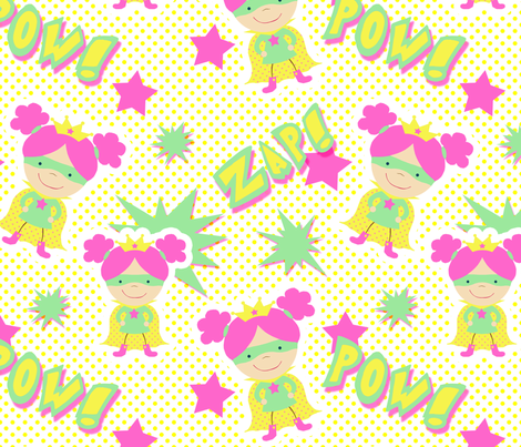 girlpower3 fabric by mgterry on Spoonflower - custom fabric