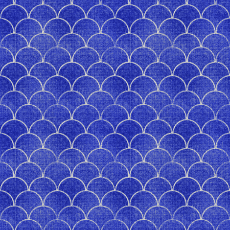 Denim Scales fabric by joanmclemore on Spoonflower - custom fabric