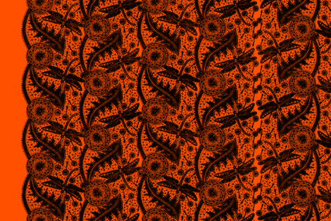 Dragonfly Lace ~ Tiers ~ This Is Halloween! fabric by peacoquettedesigns on Spoonflower - custom fabric