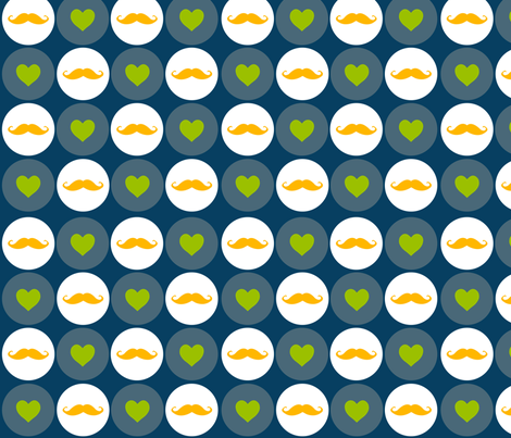 I Heart Mustaches fabric by dharper26 on Spoonflower - custom fabric