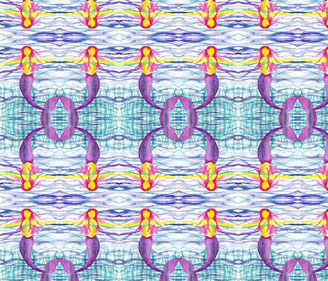 Watercolor Mermaid fabric by fentonslee on Spoonflower - custom fabric