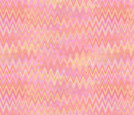 zigzag in sherbet pink fabric by weavingmajor on Spoonflower - custom fabric