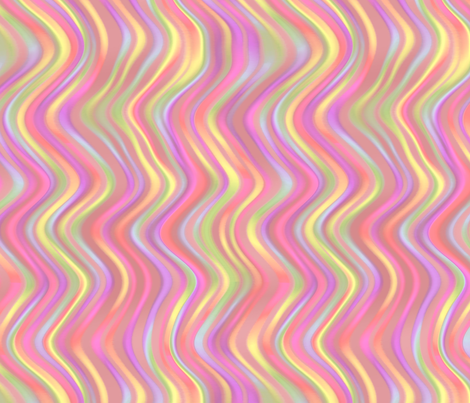 running waves - sherbet fabric by weavingmajor on Spoonflower - custom fabric