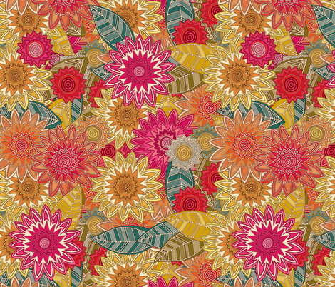 sunshine garden fabric by scrummy on Spoonflower - custom fabric