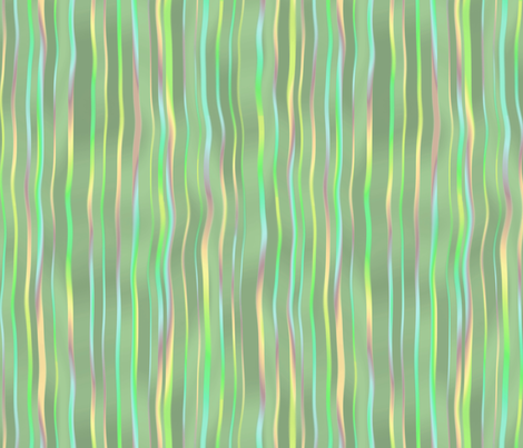 waterfall stripes in melon green fabric by weavingmajor on Spoonflower - custom fabric