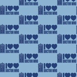 Tardis Blue I Heart Heart Doctor Who
