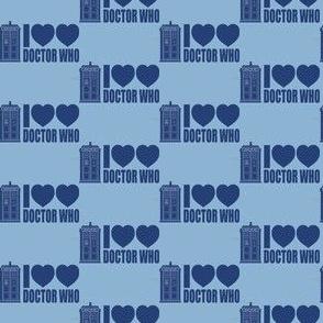 Blue I Heart Heart Doctor Who