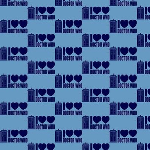I Heart Heart Doctor Who (Darker Tardis Blue )