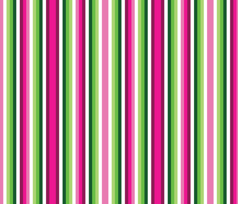 Narrow Pink and Green Watermelon Stripes 2 fabric by elsielevelsup on Spoonflower - custom fabric