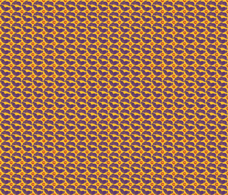 Orange Kisses fabric by ronnyjohnson on Spoonflower - custom fabric