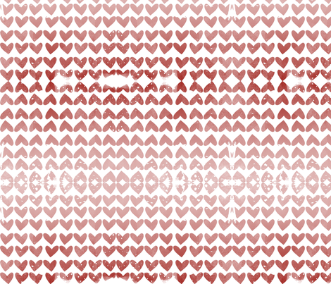 Ombre hearts fabric by mezzime on Spoonflower - custom fabric