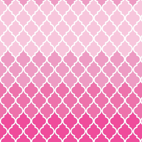 Pink Moroccan ombre fabric by mezzime on Spoonflower - custom fabric
