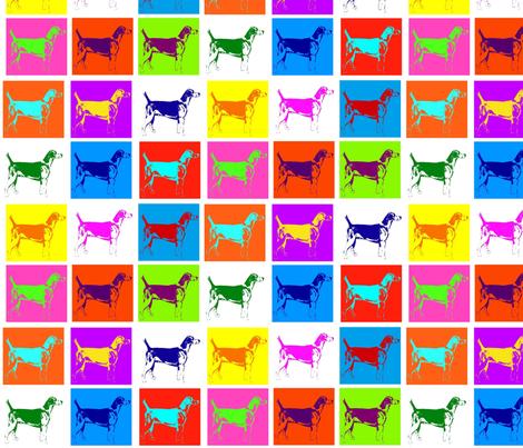Warhol Hounds fabric by ragan on Spoonflower - custom fabric