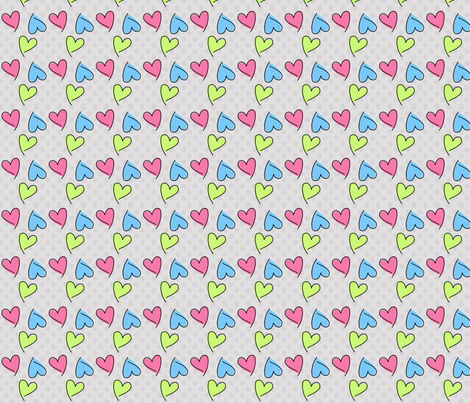 Funky Hearts fabric by mezzime on Spoonflower - custom fabric