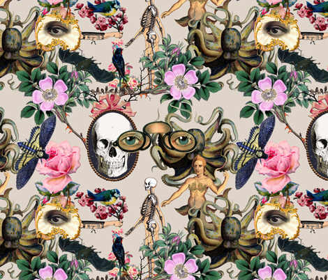 My Secret Garden fabric by poshcrustycouture on Spoonflower - custom fabric