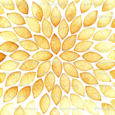 Leaves pattern - caramel color