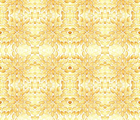 Leaves pattern - caramel color fabric by martaharvey on Spoonflower - custom fabric