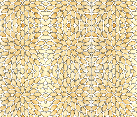 Leaf explosion - caramel color with ink fabric by martaharvey on Spoonflower - custom fabric