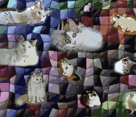 Turkish Van Cats fabric by adb on Spoonflower - custom fabric