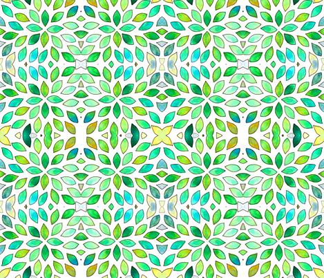 Watercolor leaf explosion fabric by martaharvey on Spoonflower - custom fabric