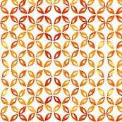 Leaf pattern in orange