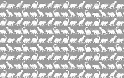 Dino Parade - Light Gray