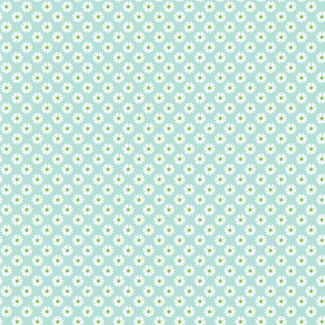 Daisy Heart blue fabric by jillbyers on Spoonflower - custom fabric