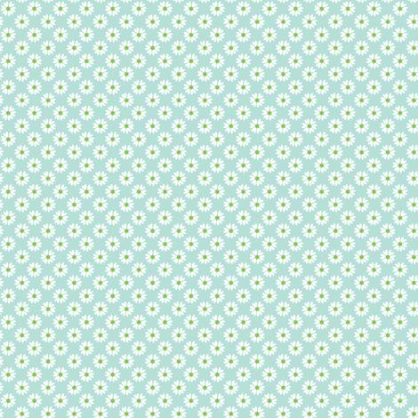 Daisy Heart blue fabric by jillbyers on Spoonflower - custom fabric