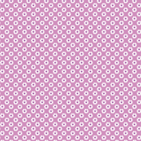 Daisy Heart purple fabric by jillbyers on Spoonflower - custom fabric