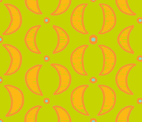 tangerine slices fabric by luckyb on Spoonflower - custom fabric