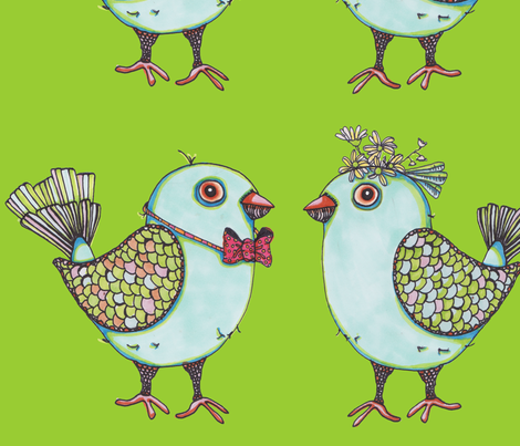 lovebirdsfabric fabric by artthatmoves on Spoonflower - custom fabric