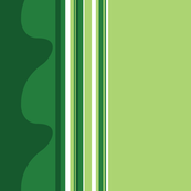 Green Watermelon Border Print 2